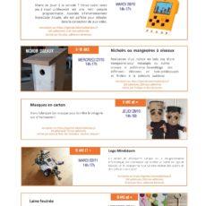 Toussaint 2021 : des ateliers pour les enfants